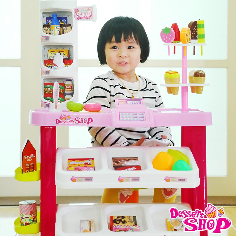 Kids Pretend Play Toy Mini Simulation Supermarket Cash Register Toy
